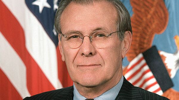 Бывший министр обороны США Дональд Рамсфелд