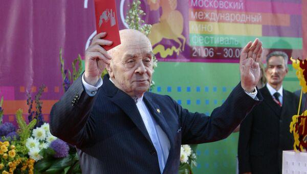Актер Леонид Броневой на церемонии открытия XXIX Московского международного кинофестиваля