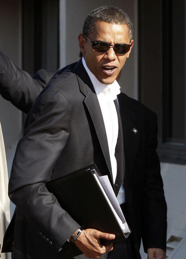 Барак Обама во время предвыборной кампании в Нью-Йорке