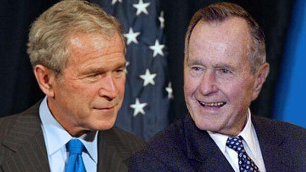 Джордж Буш-старший и Джордж Буш-младший. Архивное фото