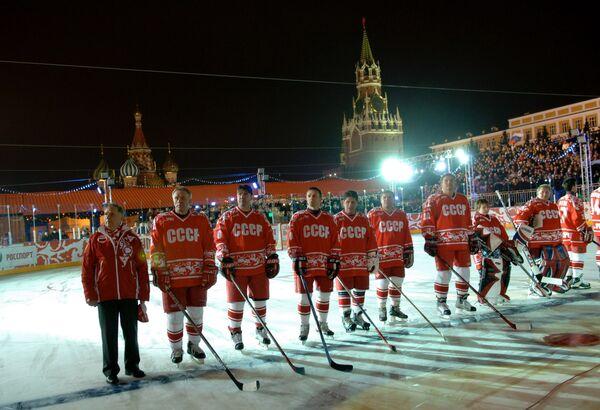 Хоккей на Красной площади