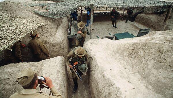 Сторожевой пост советских войск в Афганистане. Архивное фото
