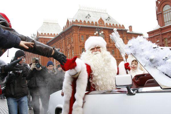 Москва встретит Деда Мороза 26 декабря на Манежной площади