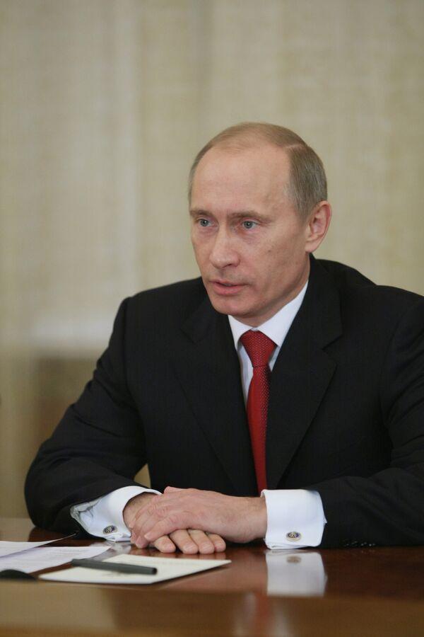 Встреча Владимира Путина с Миреком Тополанеком в Ново-Огарево