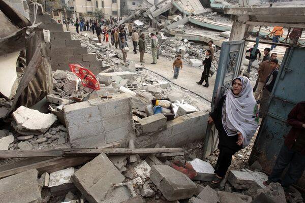 Последствия израильских бомбардировок в секторе Газа