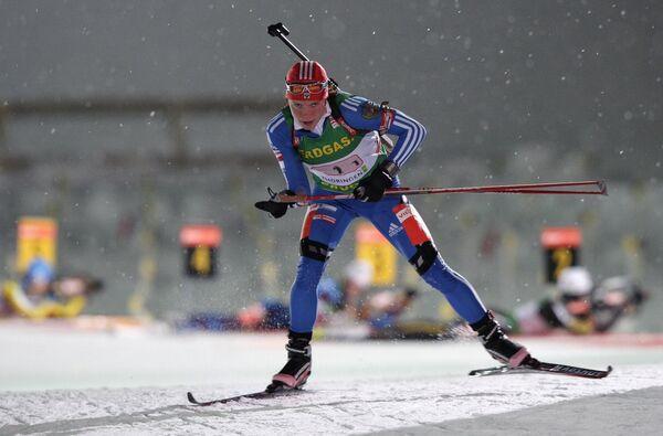 Светлана Слепцова на четвертом этапе Кубка мира по биатлону