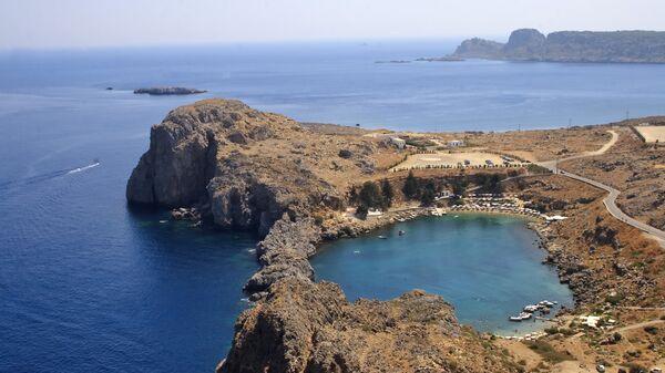 Вид побережья Греции. Архив