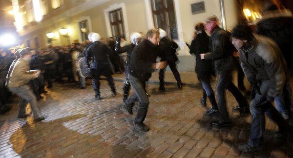Массовые беспорядки в центре Риги