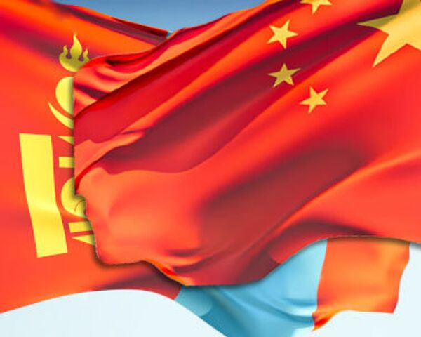 Флаг Монголии и Китая