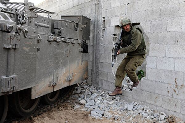 Израильские военные в секторе Газа