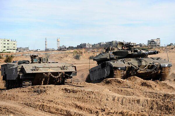 Израильские войска в секторе Газа. Архив