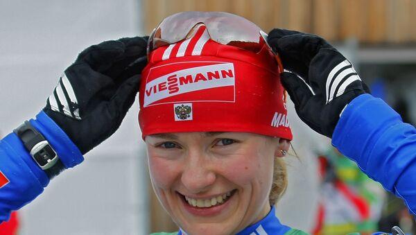 Российская биатлонистка Екатерина Юрьева