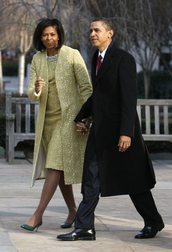 Барак и Мишель Обама в день инаугурации