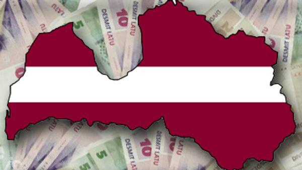 Латвийский флаг и валюта