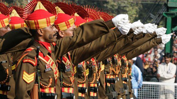 Военный парад в Нью-Дели по случаю национального праздника Индии Дня республики