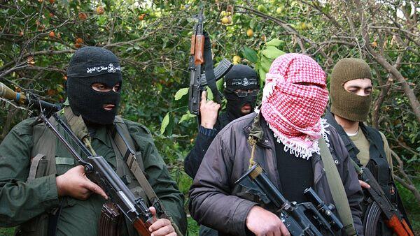 Палестинские боевики в секторе Газа