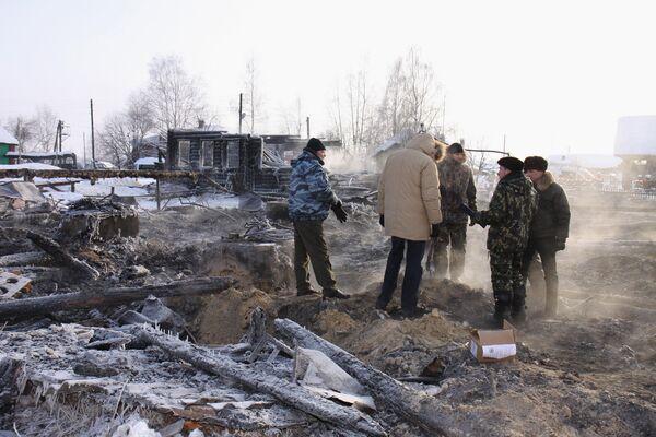 Семь жертв пожара в доме ветеранов в Коми уже похоронены