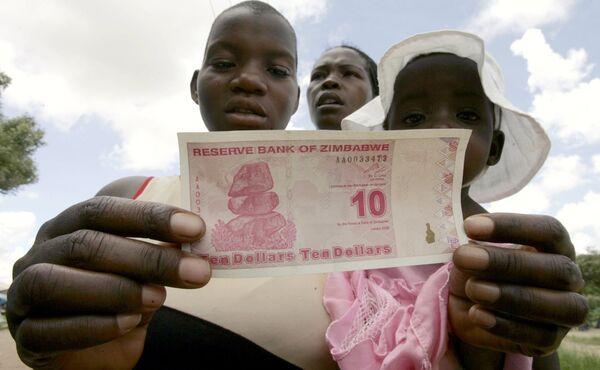 10 зимбабвийских долларов нового образца