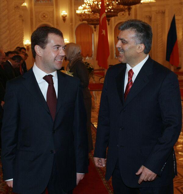 Официальная церемония встречи президента Турции Абдуллаха Гюля в Большом Кремлевском дворце