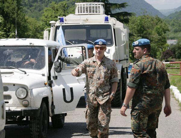 Военные наблюдатели ООН и российские миротворцы в Абхазии