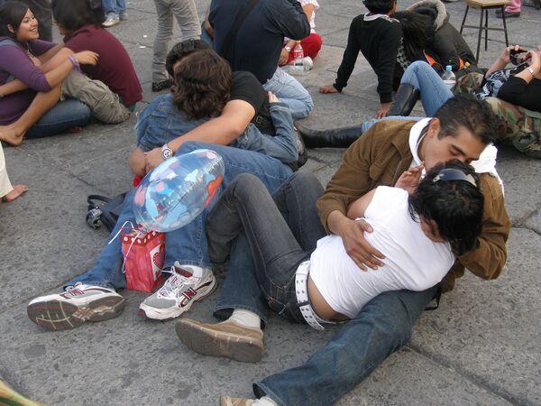 В Мехико в день Святого Валентина установлен новый мировой рекорд по поцелуям