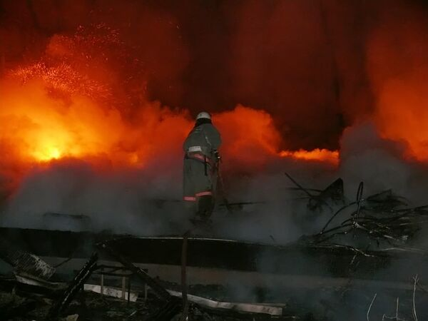 Пожар был потушен очень быстро, но здание выгорело полностью
