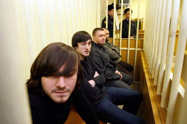 Обвиняемые по делу об убийстве Анны Политковской.