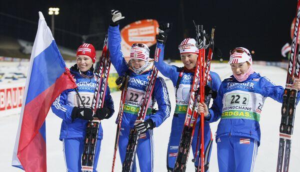 Ольги Медведцева, Светлана Слепцова, Ольга Зайцева и Анна Булыгина (слева направо)