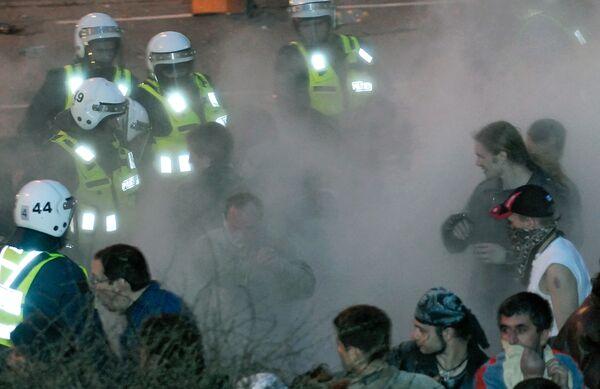 Разгон митинга у памятника Воину-освободителю