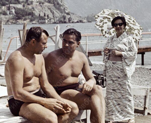 Гагарин, Николаев и Есико в Крыму