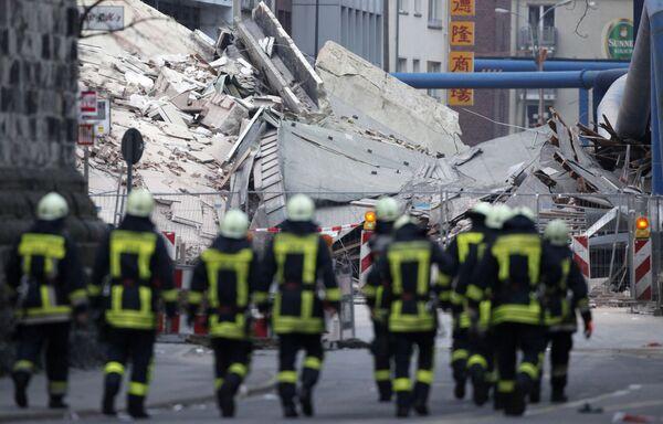 Здание исторического архива обрушилось в немецком городе Кельне