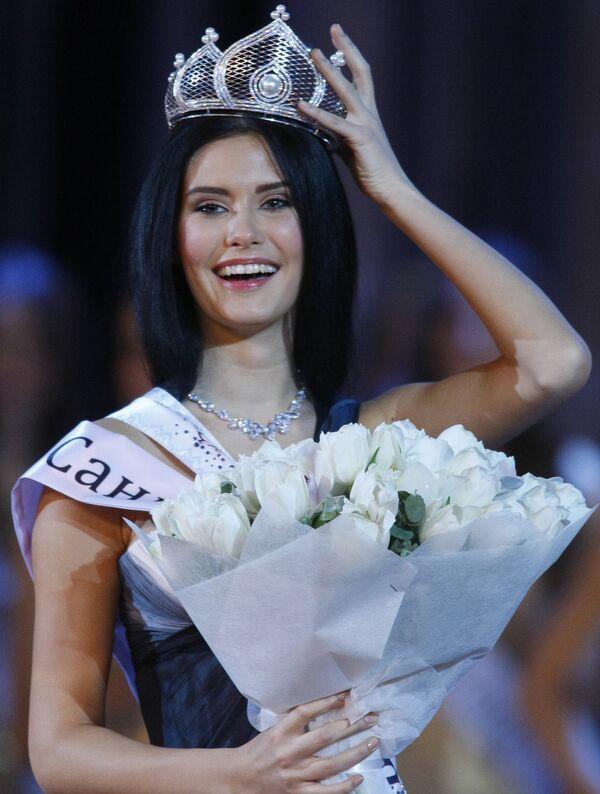 Победительница национального конкурса красоты Мисс Россия 2009 София Рудьева из Санкт-Петербурга