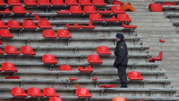 Трибуна стадиона Лужники