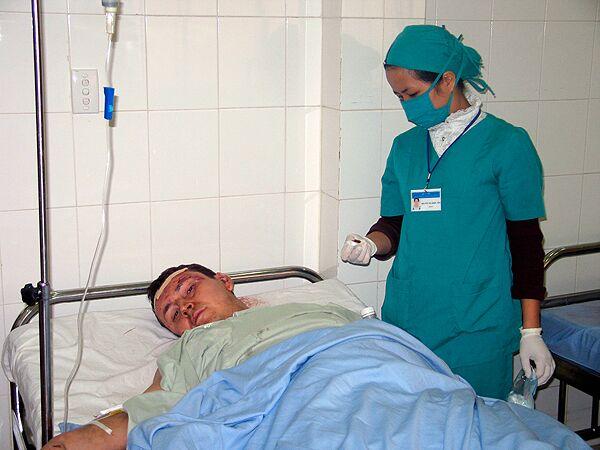 Пострадавший в автобусной аварии во Вьетнаме