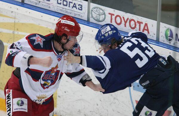 Континентальная хоккейная лига. Плей-офф. Динамо (Москва) — ЦСКА (Москва) — 5:1