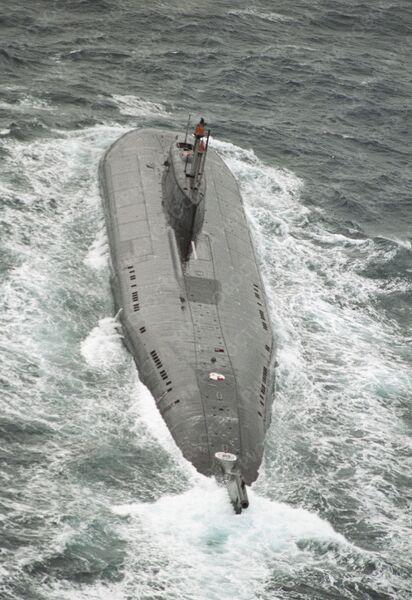 Атомная подводная лодка в Баренцевом море