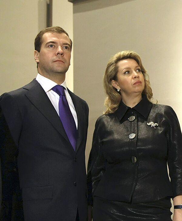 Дмитрий Медведев с супругой Светланой