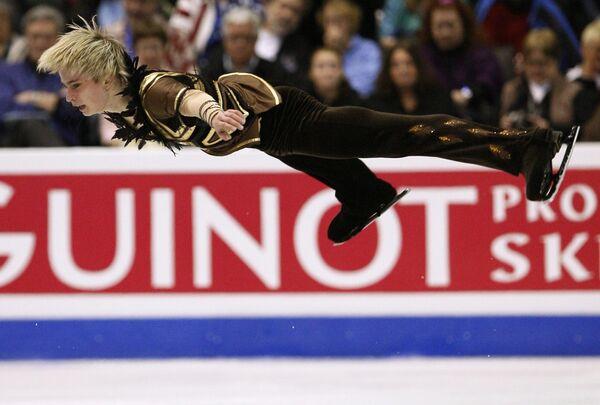 Андрей Лутай на чемпионате мира по фигурному катанию
