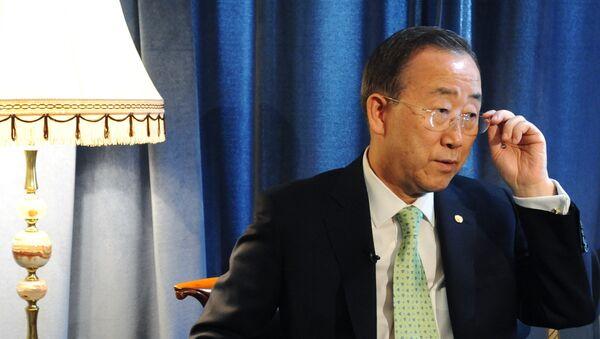 Генеральный секретарь ООН Пан Ги Мун. Архив.