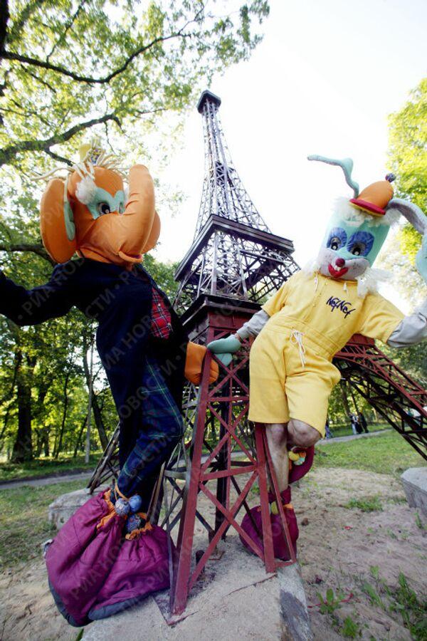 Копия знаменитой парижской Эйфелевой башни в Калининградской области