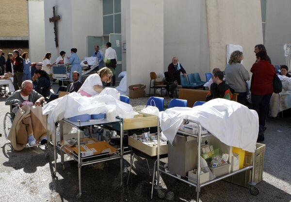 Помощь пострадавшим в результате землетрясения в Италии