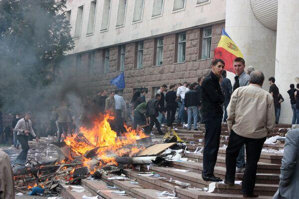 Акция протеста молдавской оппозиции в Кишиневе