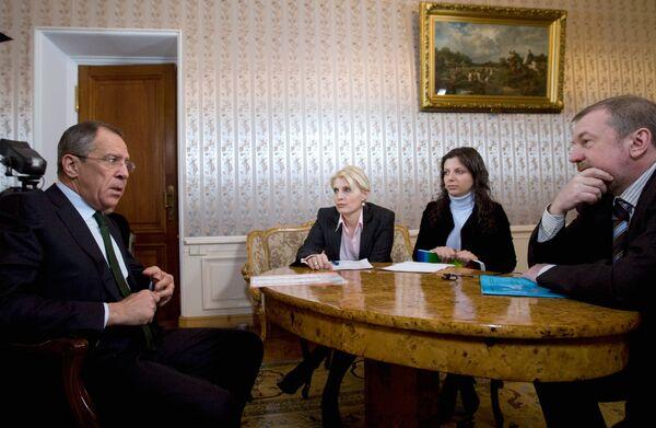 Интервью главы МИД РФ Сергея Лаврова российским СМИ