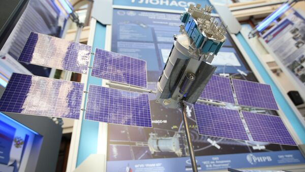 Макет спутника ГЛОНАСС-М. Архивное фото