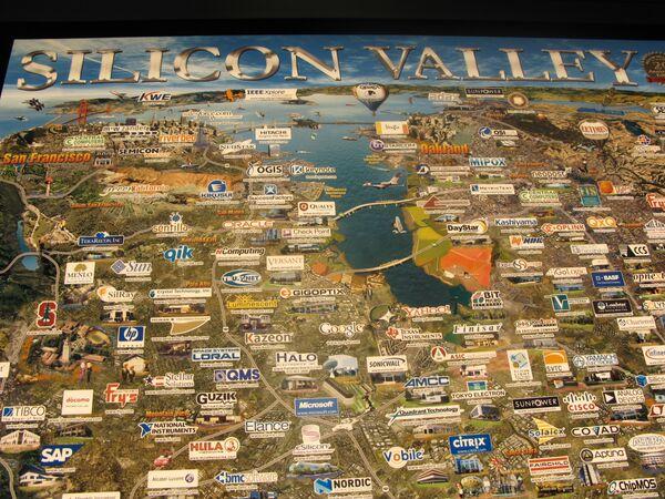 Бизнес-карта Силиконовой долины США. Архив