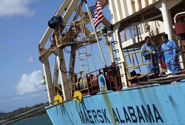 Cудно Maersk Alabama в порту Мамбаса