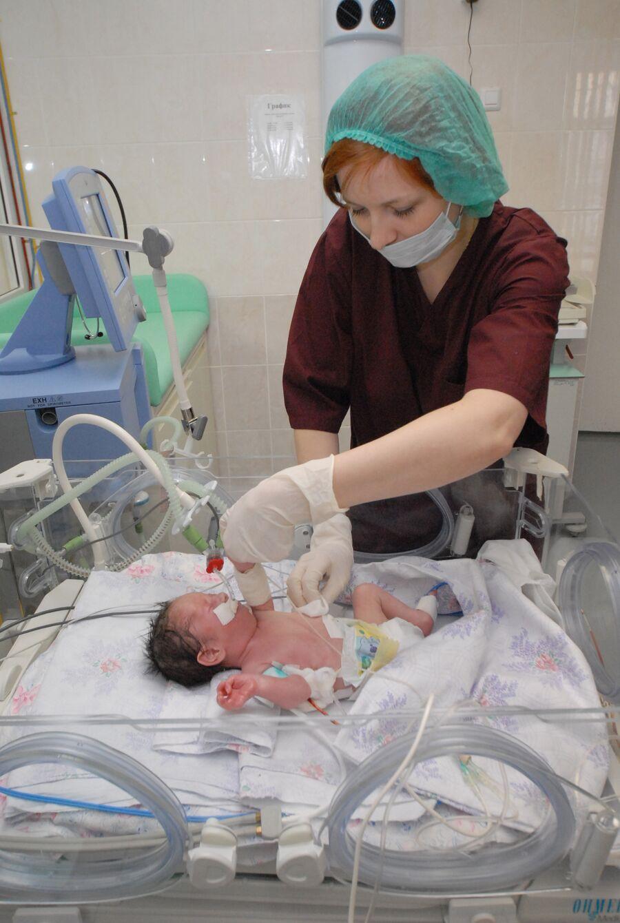 В отделении патологии новорожденных и недоношенных детей