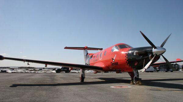 Самолет Pilatus PC-12 первого в России авиа-такси Dexter