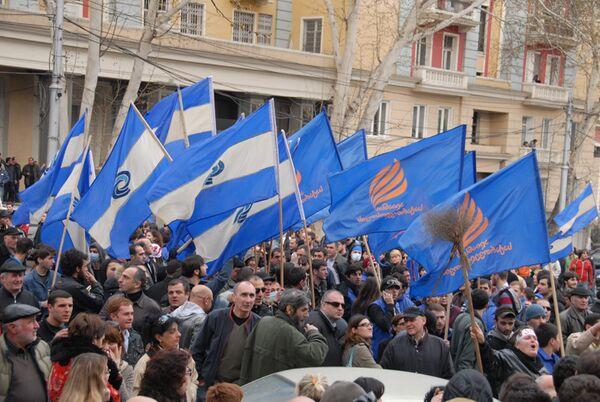 Грузинская оппозиция со вторника возобновляет акции протеста