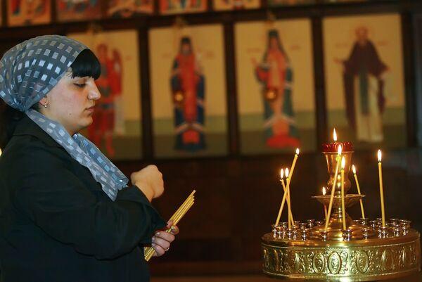 Пасхальное праздничное богослужение в Грозном